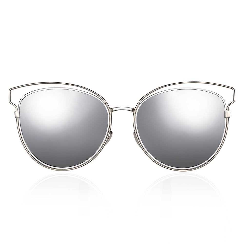 Gafas De Sol Mujeres Marco Ovalado Coated Color Vendimia - $ 362.08 ...