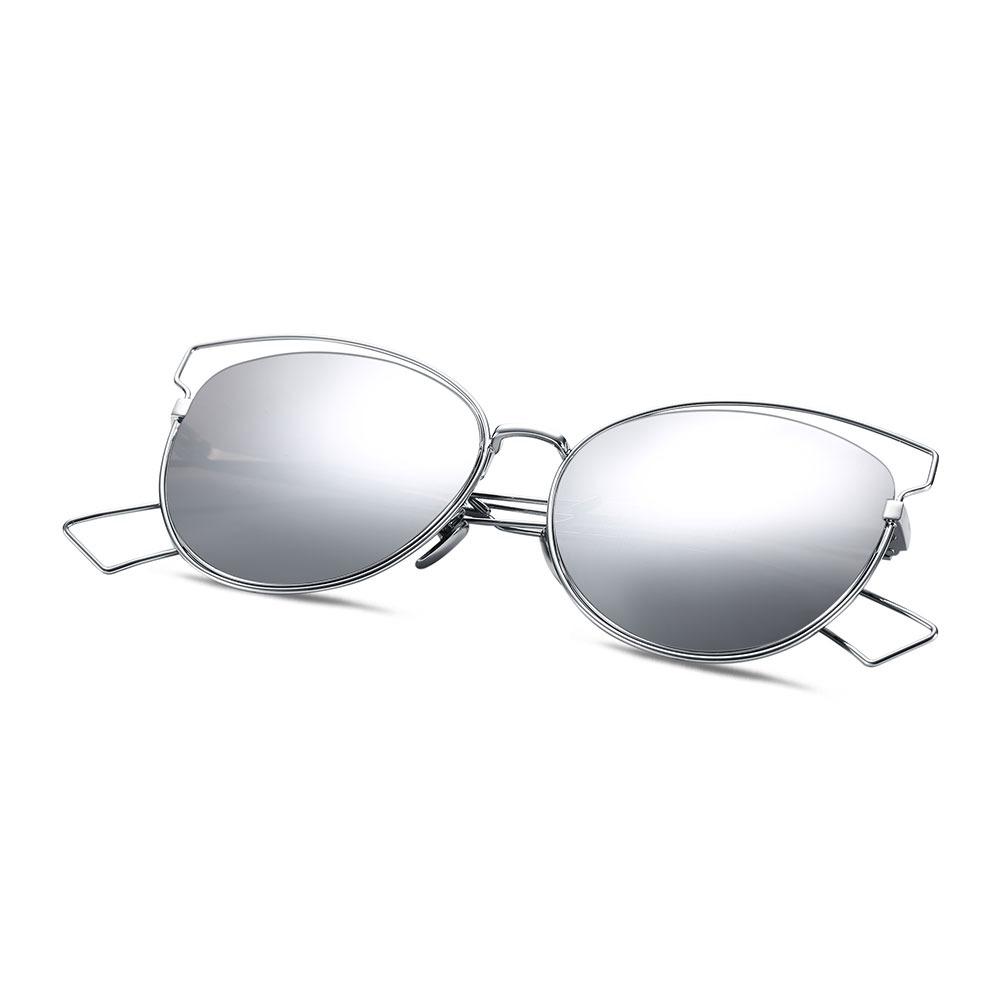 Gafas De Sol Mujeres Marco Ovalado Coated Color Vendimia - $ 296.20 ...