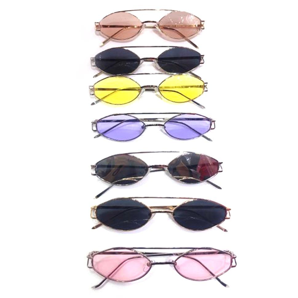 ba7d05d4d6 Gafas De Sol Ovaladas Esbelto Pequeño Ronda Gafas Sol Moda ...