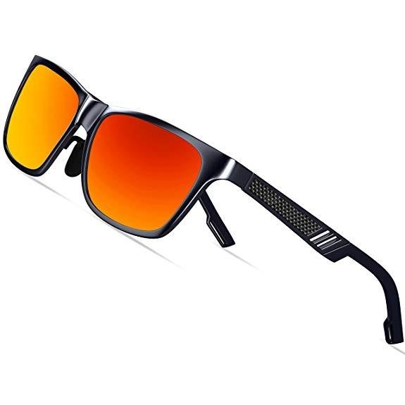 4652ddf005 Gafas De Sol Para Hombres Polarizados Marco De Metal.(rojo) - $ 97.111 en Mercado  Libre