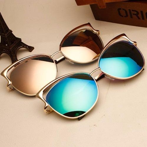 cf63a24599 Gafas De Sol Para Mujer Ojo De Gato Espejo Filtro Uv 400 - $ 29.900 en Mercado  Libre