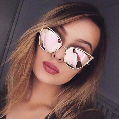 Gafas De Sol Para Mujer Ojo De Gato Espejo Filtro Uv 400 -   29.900 ... 1090ac44d597