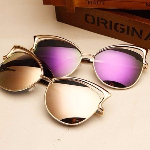 302b080255 Gafas De Sol Para Mujer Ojo De Gato Espejo Filtro Uv 400 - $ 29.900 en  Mercado Libre
