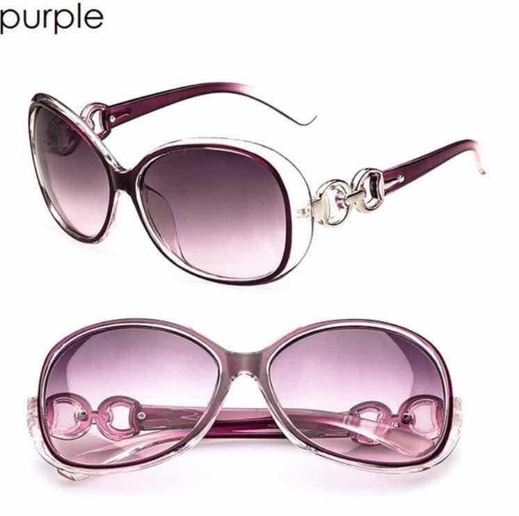 6fac002d11 Gafas De Sol Para Mujer Púrpura 100% A La Moda Filtro Uv - $ 3.990 ...