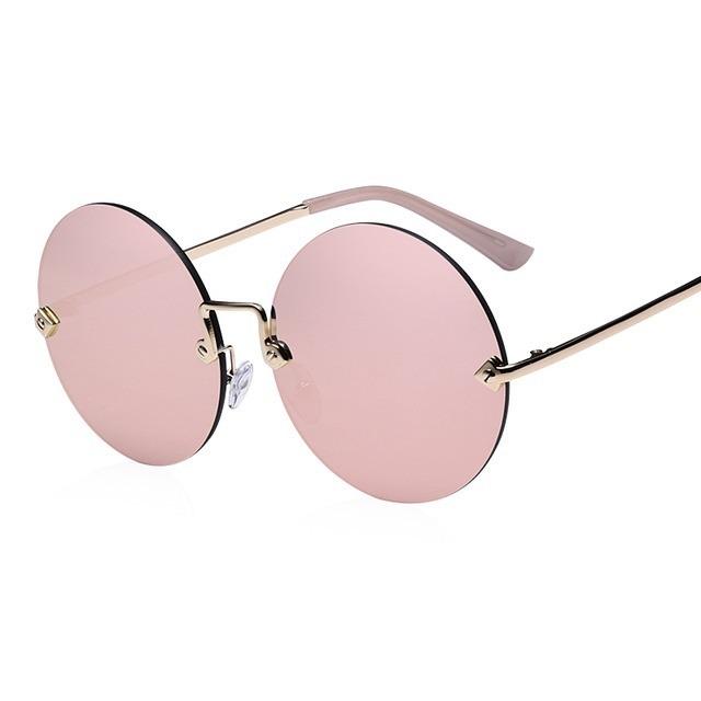 7aab5b2433 Gafas De Sol Para Mujer Redondas Sin Marco + Empaque De Tela - $ 64.000 en  Mercado Libre