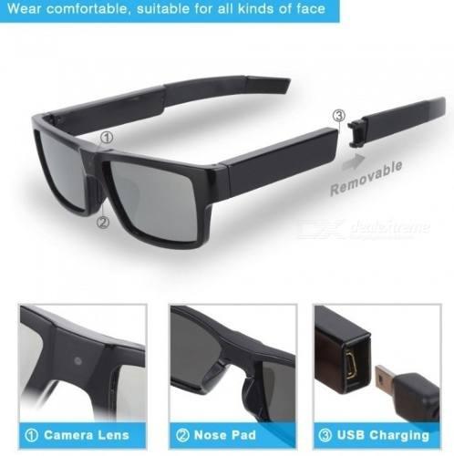 524a30fc4e Gafas De Sol Polarizadas Cámara Oculta Espia G2 Hd 1080p - $ 4.795 ...