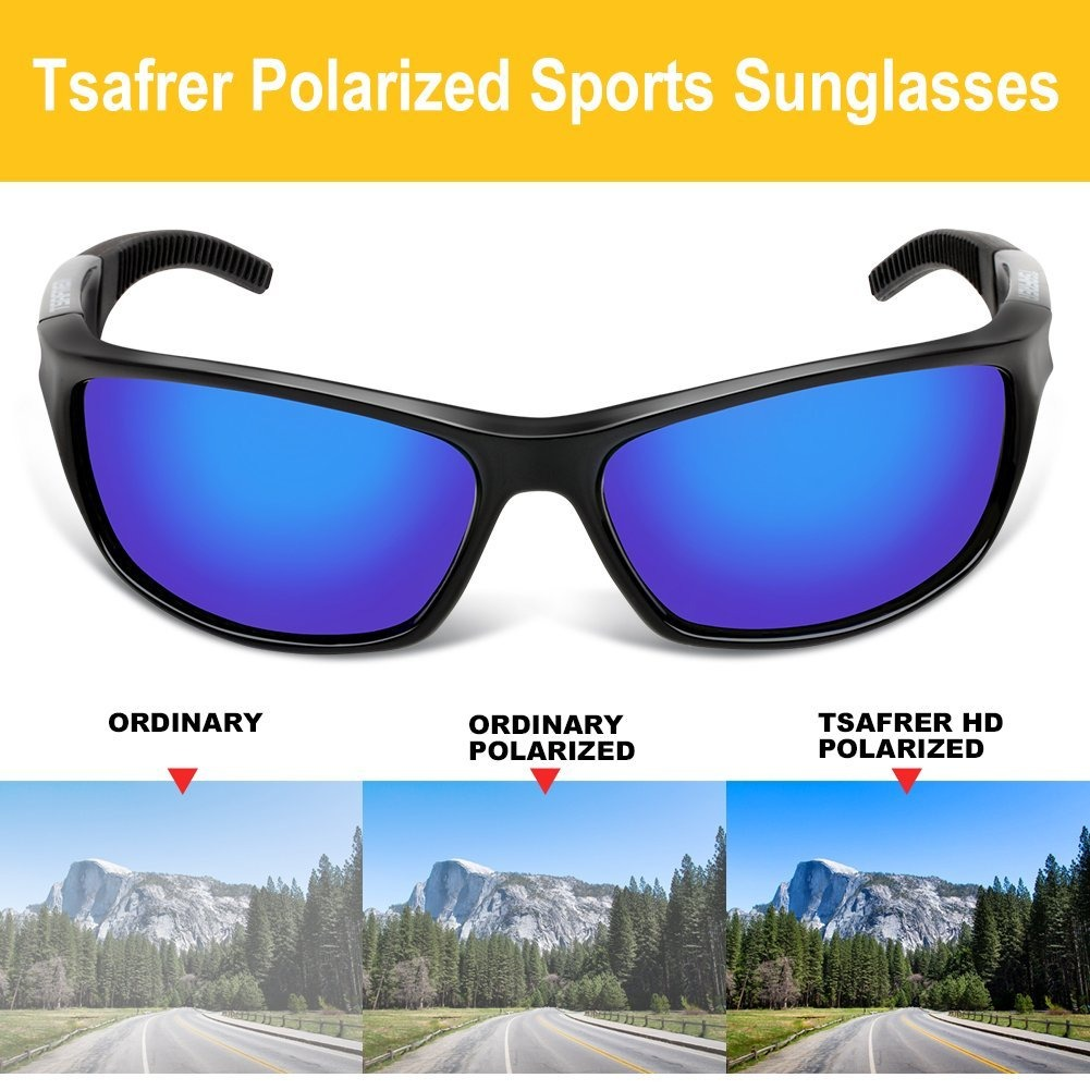6d0a223dad gafas de sol polarizadas unisex tsafrer deportivas para homb. Cargando zoom.