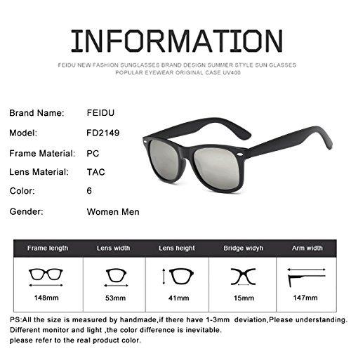 c816f32065 Gafas De Sol Polarizadas Wayfarer Para Hombre - Feidu Hd ...
