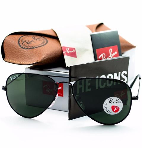 gafas de sol ray-ban aviador rb3025 002/58 polarized 58mm