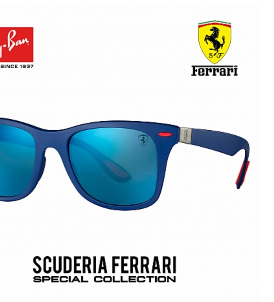 70eef12bad Gafas de sol rayban escudería ferrari wayfarer lite force cargando zoom jpg  873x964 Lentes ferrari ray