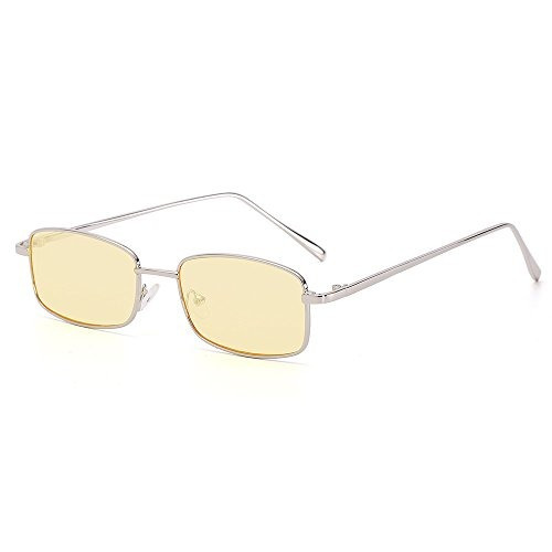 talla 40 0ecc9 4ab31 Gafas De Sol Rectangulares Pequenas Finas De Metal Con Borde