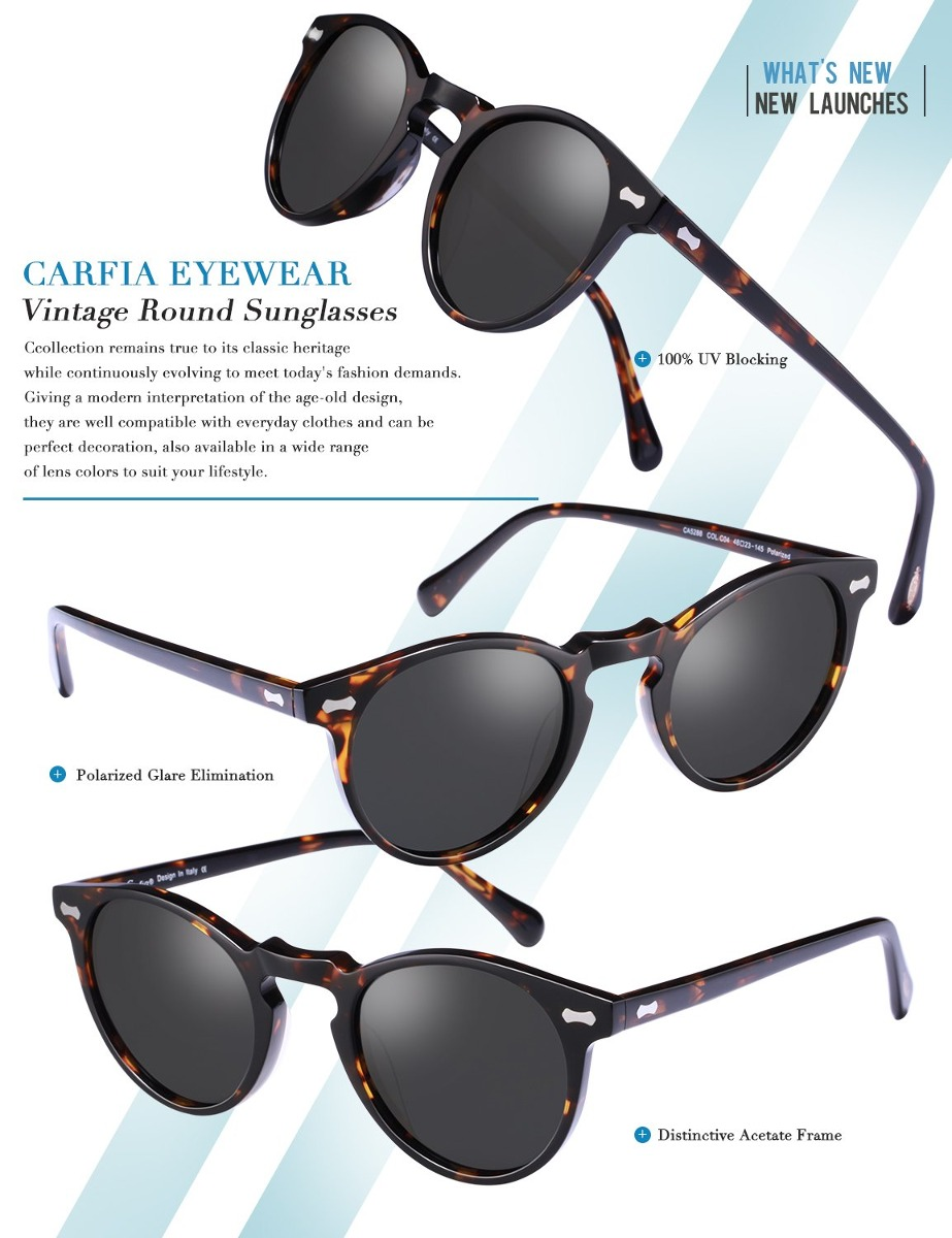 a9f0732b0b Gafas De Sol Redondas Vintage - Gafas De Sol Polarizadas. - S/ 253 ...