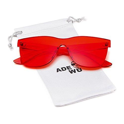 1b24f1de5a Gafas De Sol Sin Montura De Lente De Color Transparente ...