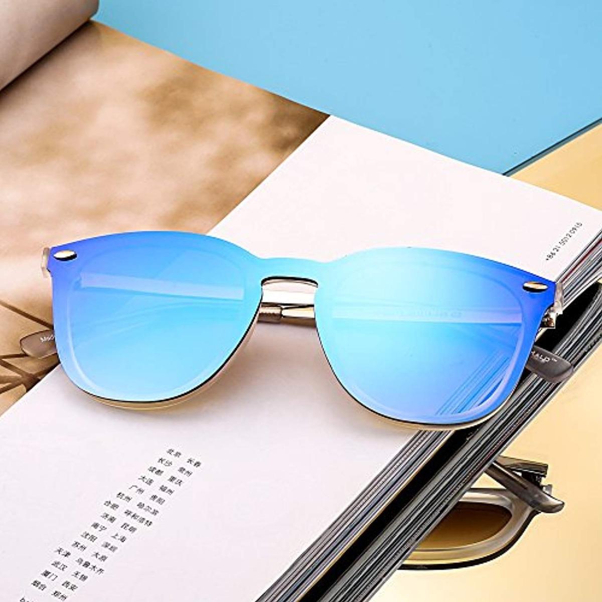 5920d7b21b Gafas De Sol Sin Montura Wayfarer Espejo - $ 125.533 en Mercado Libre