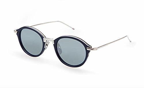buscar el más nuevo vista previa de bueno Gafas De Sol Thom Browne Tb 011 H-t-nvy-slv Navy-silver W Da