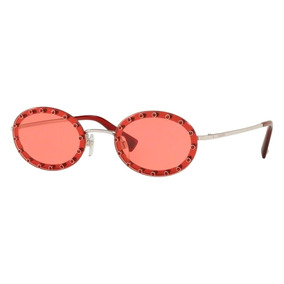 0517a8e5a0 Gafas De Sol Valentino Va 2027 300 684 Redondas Rojas Mujer