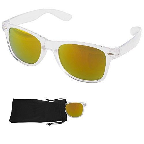 41fd56e6cd Gafas De Sol Wayfarer - Oro Lentes Espejo - $ 48.533 en Mercado Libre