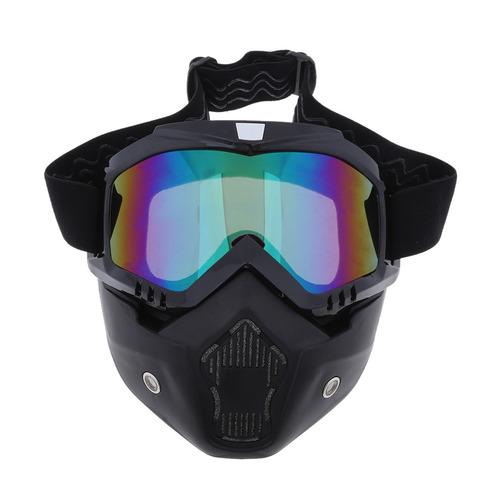 93c4cb9fce Gafas Desmontables Del Casco De La Motocicleta Máscara Fac - $ 6.275 ...