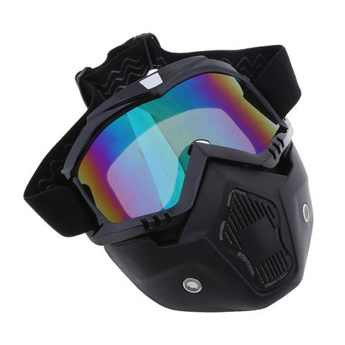 f8e4fd44cd Gafas Desmontables Del Casco De La Motocicleta Máscara Fac ...