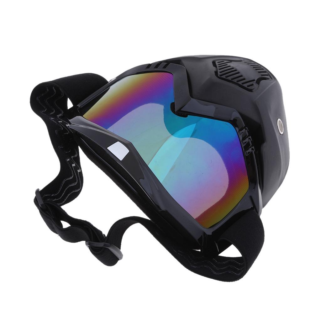 337ad90ed8 gafas desmontables del casco de la motocicleta máscara fac. Cargando zoom.