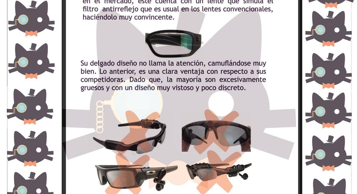 Gafas Espía Discretas Cámara Y Micrófono- Audio-videos-fotos ...