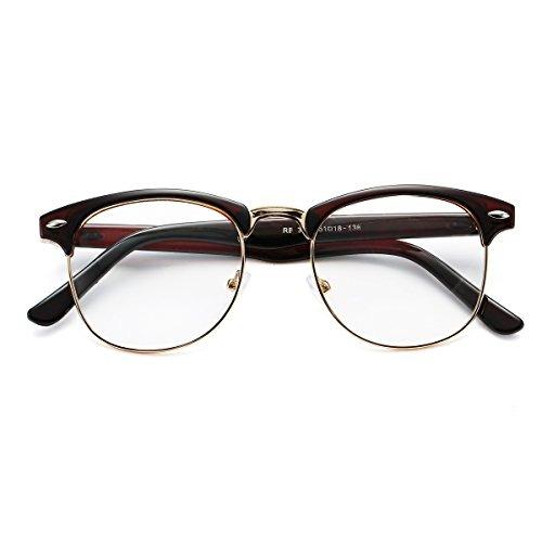 f60c1cdb51 gafas falsas nerd semirretráctiles clubmaster con marco de. 8 Fotos