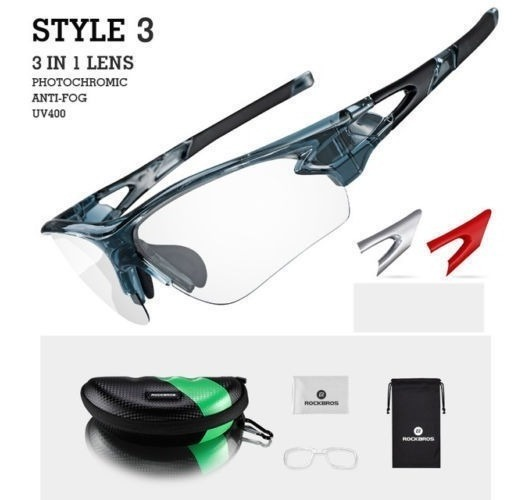2a3acf76ee Gafas Fotocromaticas Transitions Rockbros +obsequio - $ 89.598 en Mercado  Libre