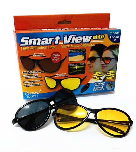 gafas hd vision smart view elite uv lente amarillo 2 x 1
