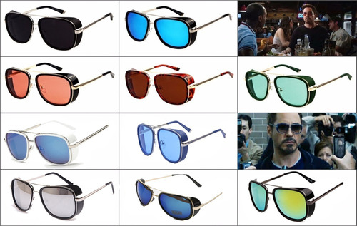 gafas iron man tony stark uv400 matsuda m23 retro 10 colores