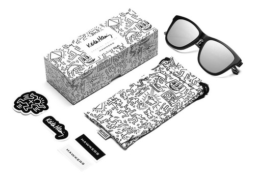 gafas keith haring x hawkers - all black hombre mujer