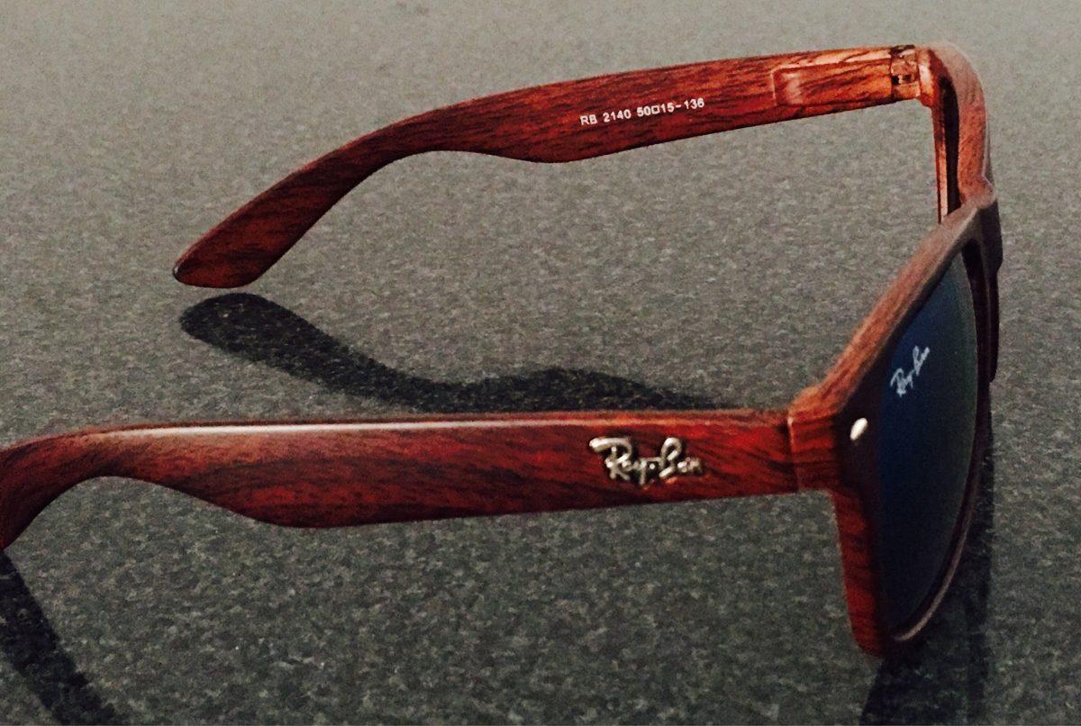 gafas ray ban marco madera