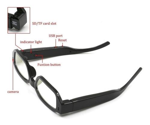 gafas lentes camara espia micro sd hasta 32 gb hd 1280*960