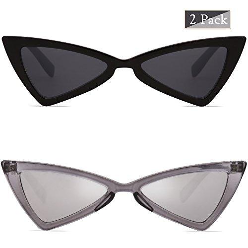 Retro 2 Lentes De Unisex Hipster Gafas Sol Pares Gato Ojos D SUjzGLqpMV