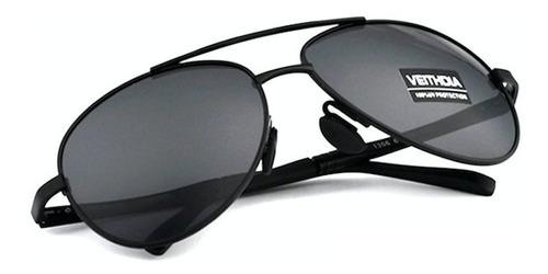 gafas lentes sol piloto polarizados veithdia 1306 negro