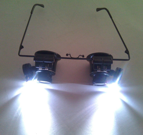 gafas lupa 20x para relojeros joyeria con luz led
