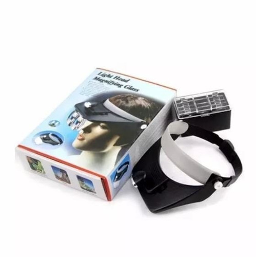 gafas lupa optivisor con luz led y 4 lentes intercambiables