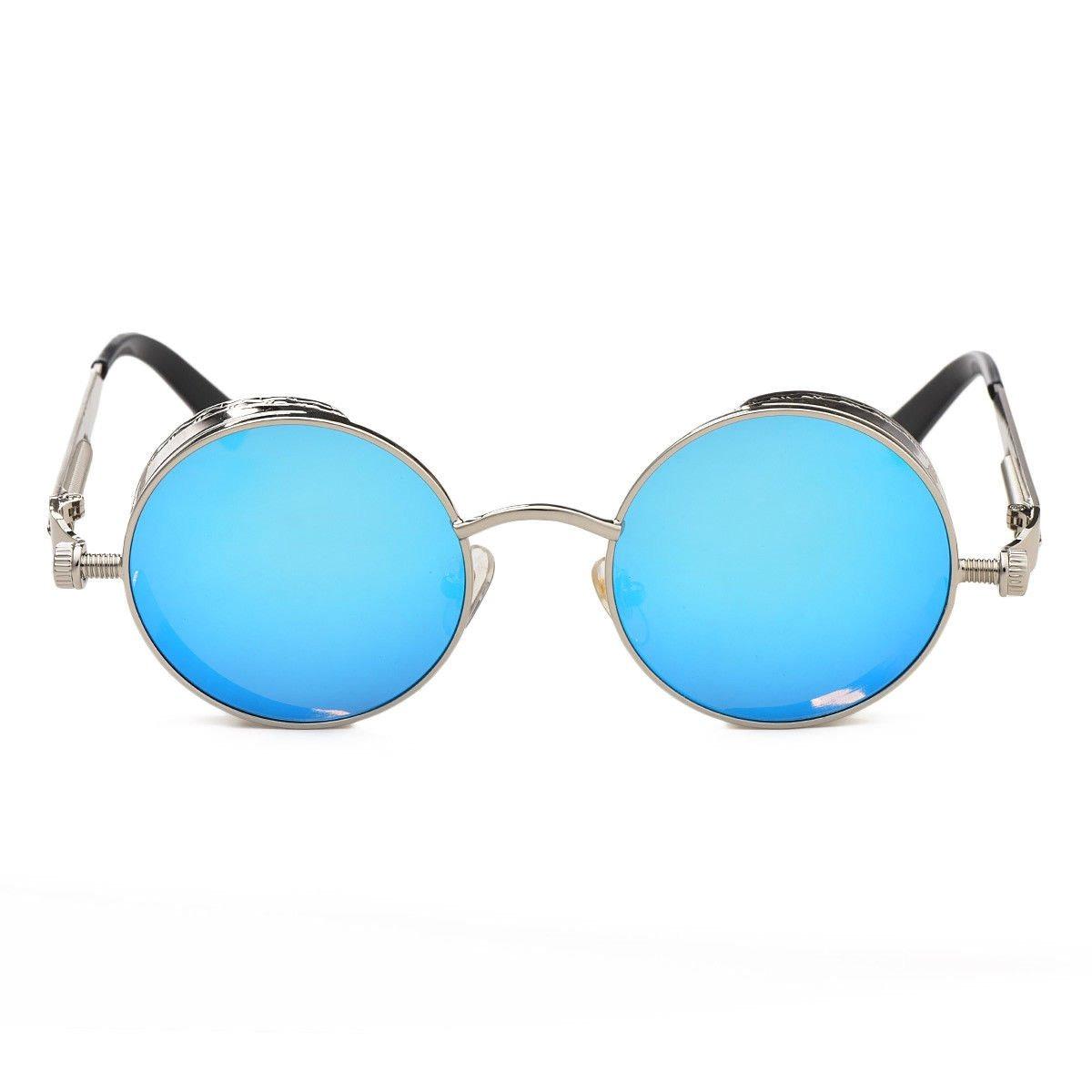 c1ffdf39897f8 Gafas Marco Gris Plateado Lente Azul Redondas Lennon Hypster -   59.900 en  Mercado Libre