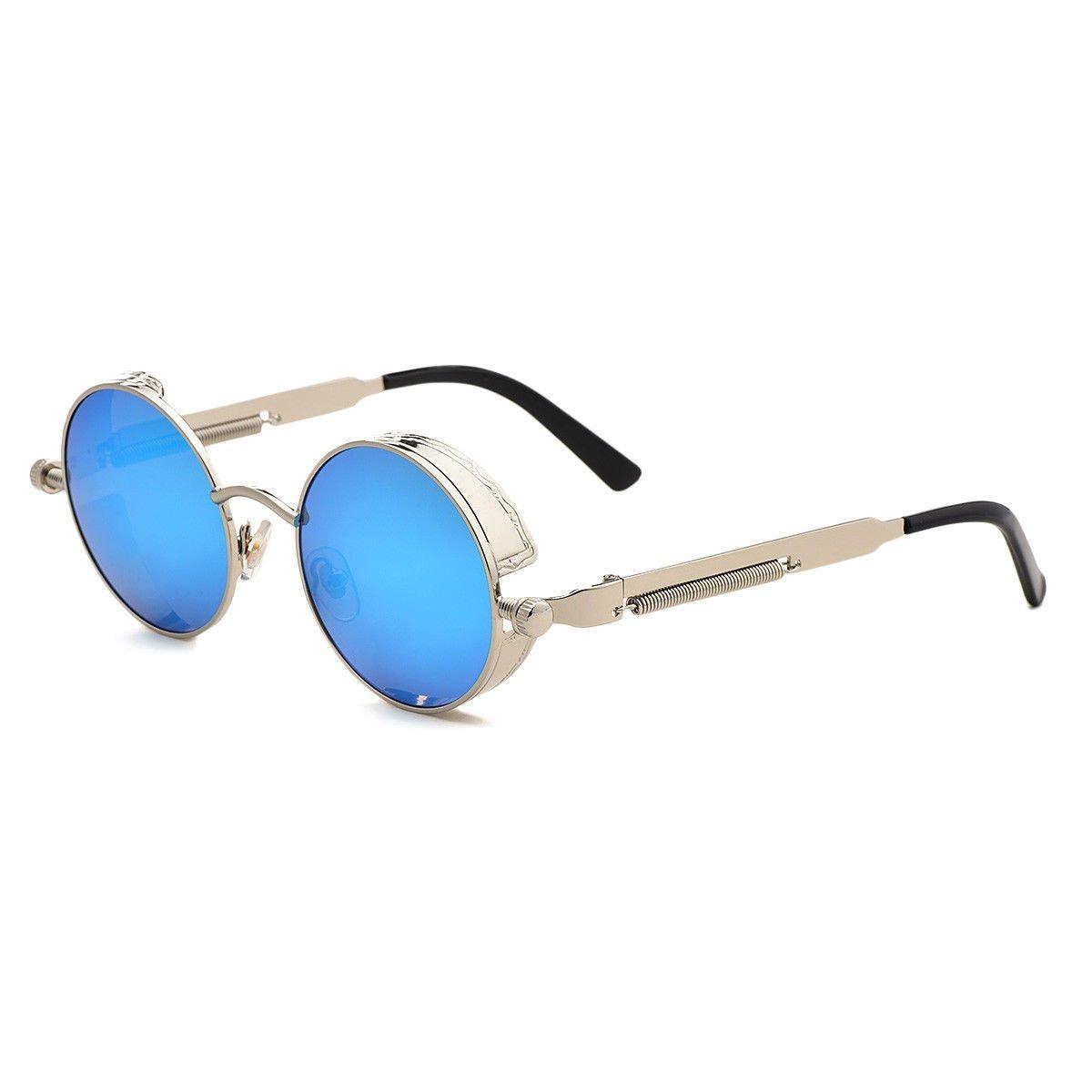 4d22a96a8858b Gafas Marco Gris Plateado Lente Azul Redondas Lennon Hypster ...