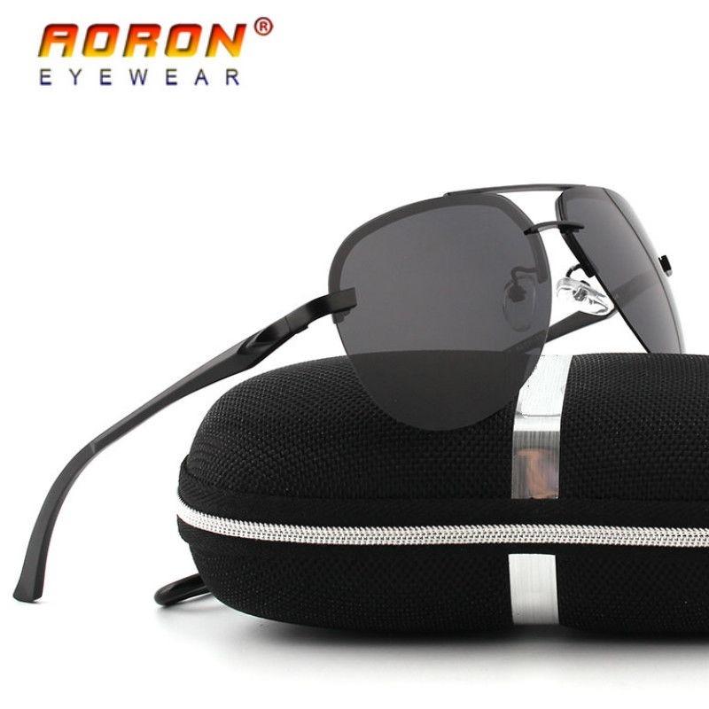 Gafas Marco Negro Lentes Negros Filtro Uv400 Aoron Aviador ...
