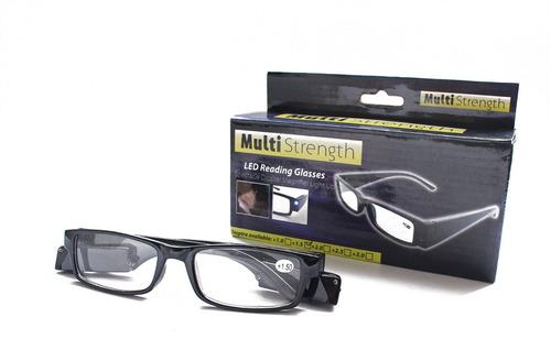 gafas montura con luz led negras vintage