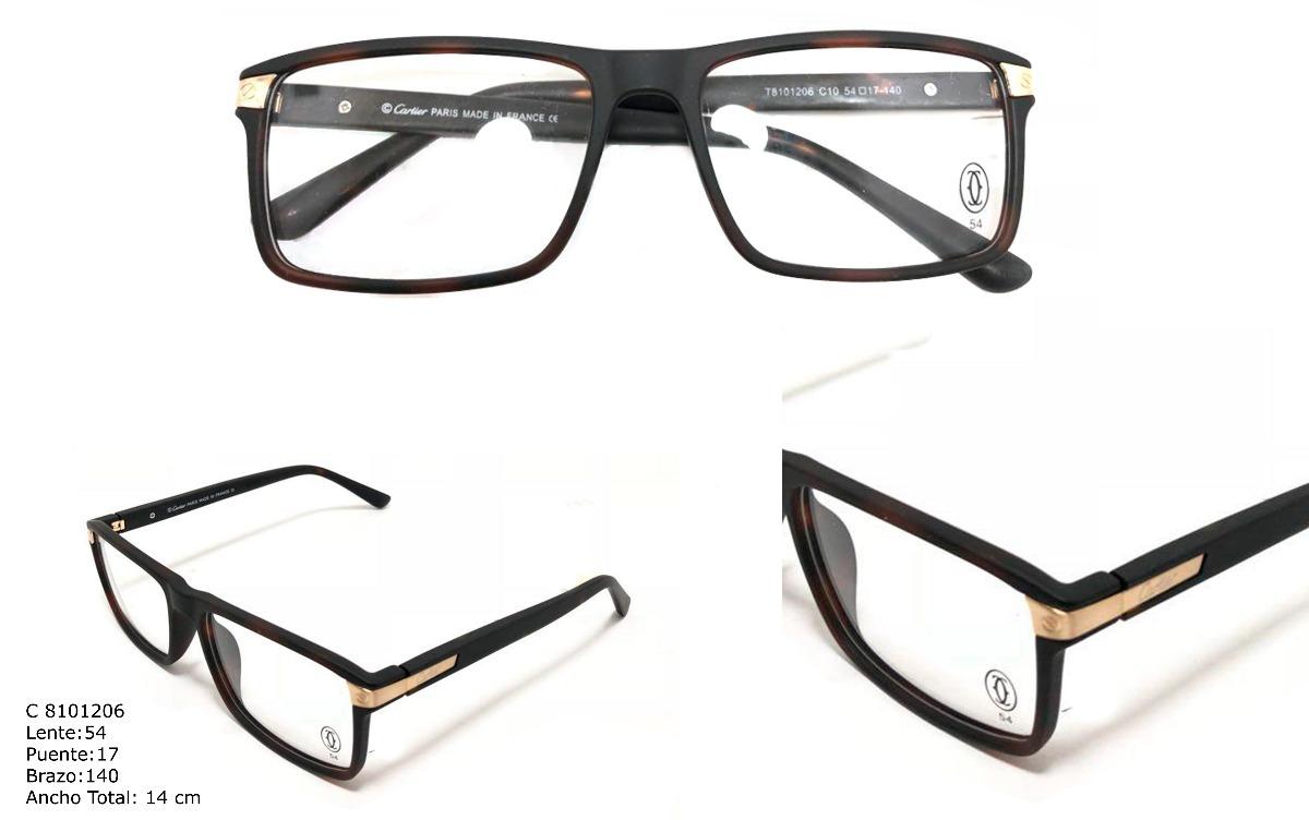 Gafas Montura Lentes Óptica Marco Para Hombre Cartier - $ 89.900 en ...