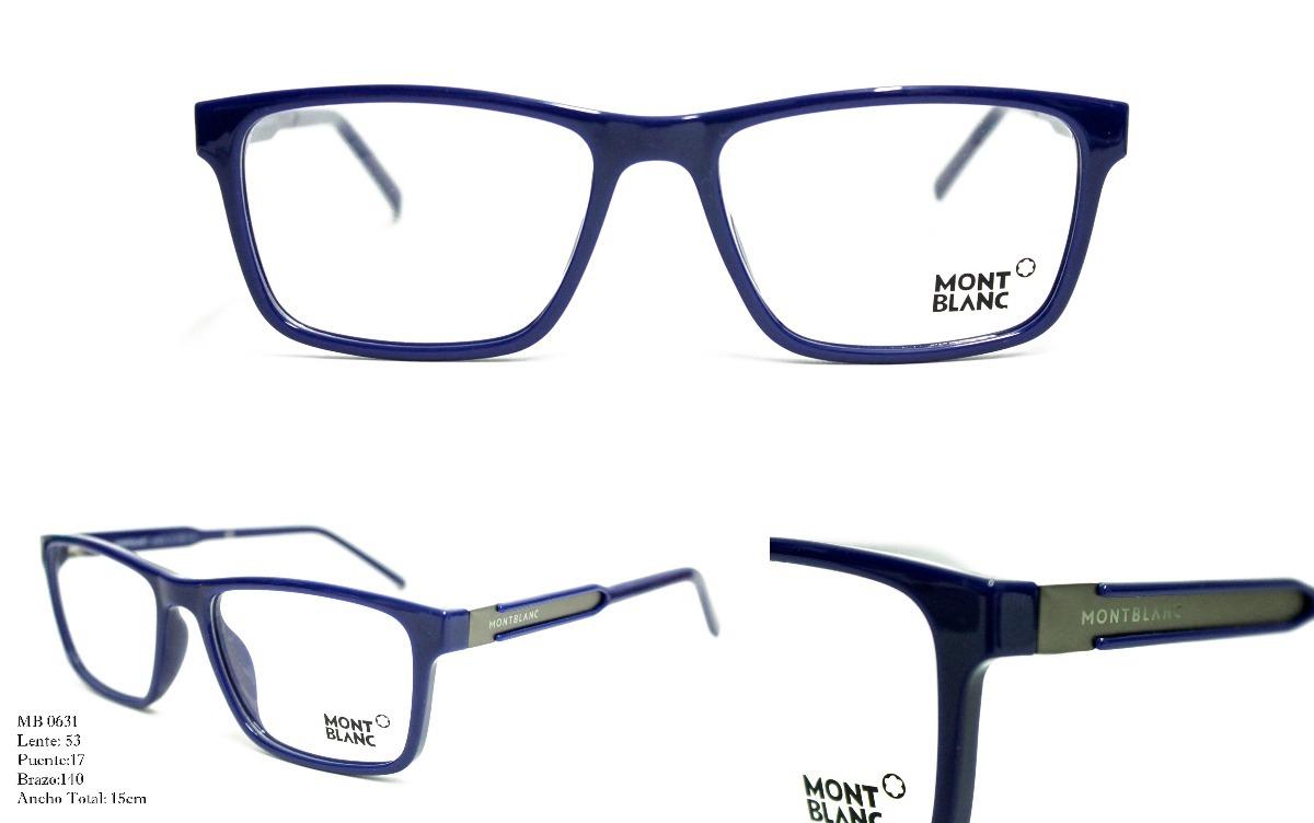 Gafas Montura Lentes Óptica Marco Para Hombre Mont Blanc - $ 99.900 ...