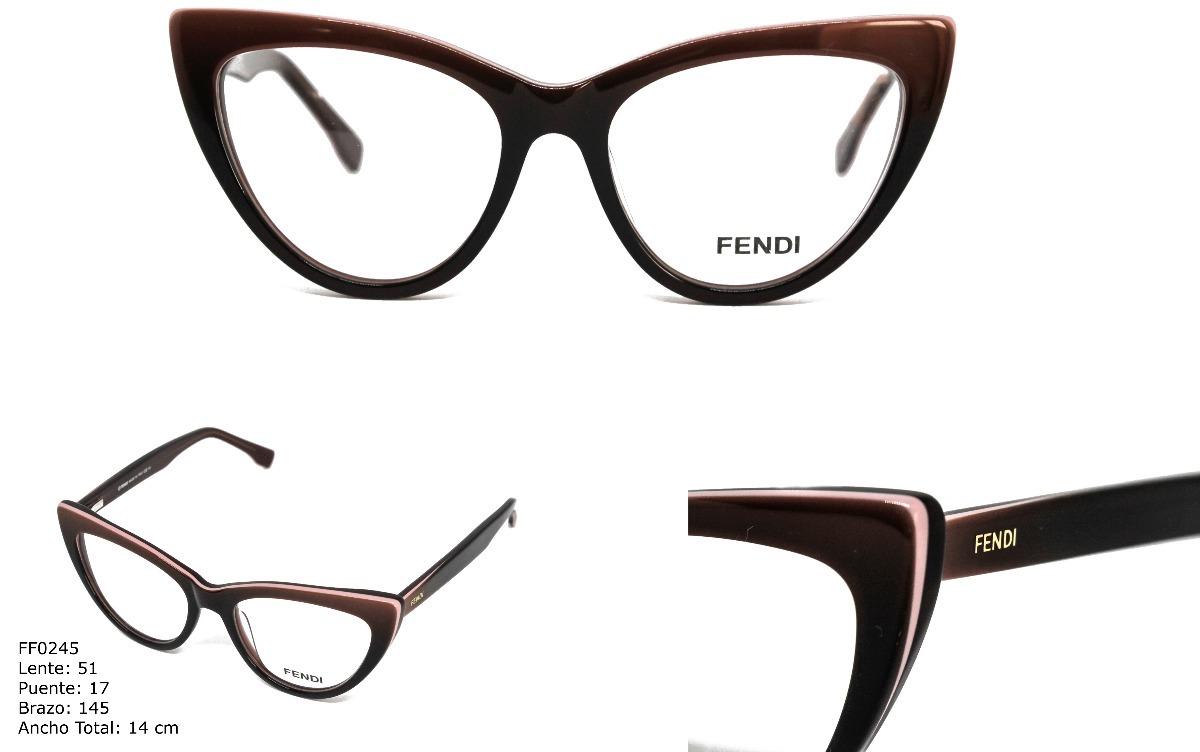 Gafas Montura Lentes Óptica Marco Para Mujer Fendi - $ 89.900 en ...