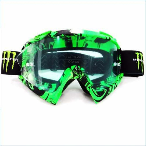 gafas motocross enduro monster  casco protección excelente