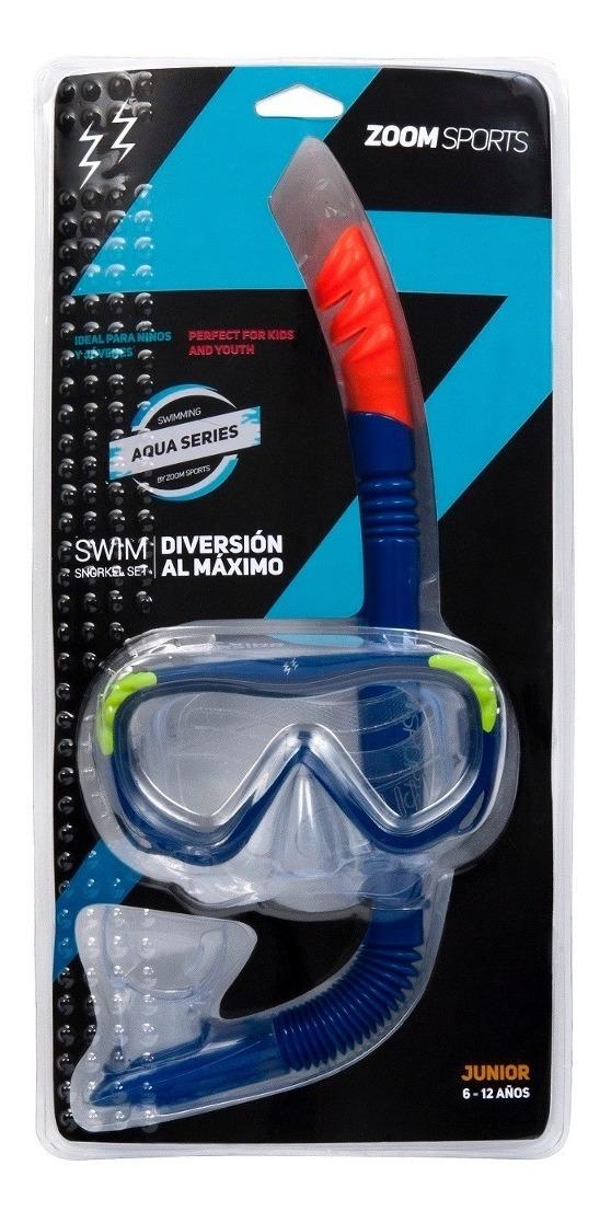 9728ce5de6 Gafas Natación Zoom Sports Youth Azul - $ 15.900 en Mercado Libre