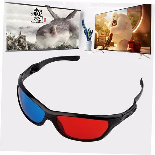 gafas negro rojo azul 3d cine aimensional anaglifos dvd gear