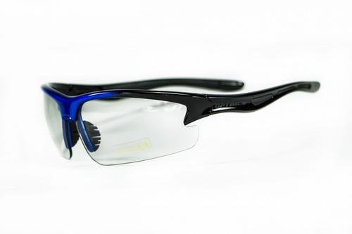gafas optimus  op91l marco negro azul lente gris claro