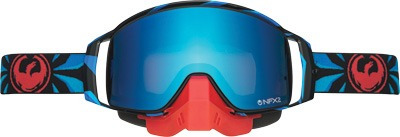 gafas p/motonieve dragon nfx2 factor/azul/rojo