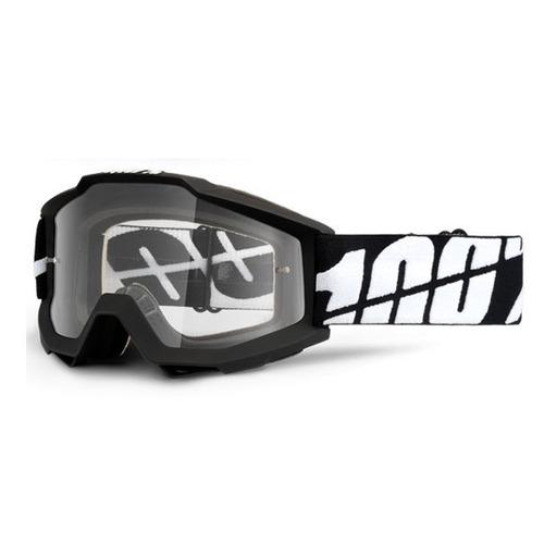 gafas p/nieve 100 % accuri tornado 2016 negro/blanco/transpa