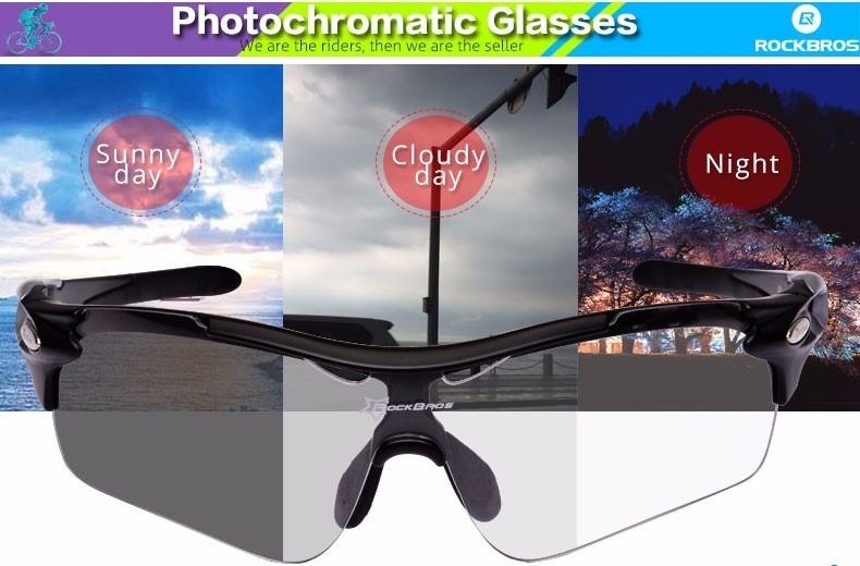 38b5f3f26f Gafas Polarizadas Y Fotocromaticas Rockbros Con 2 Lentes Y M - U$S ...